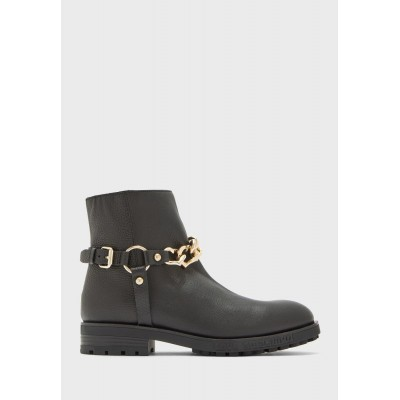 Love Moschino Girl's black Buckled Detail Mid Heel Ankle Boot KQURV9504