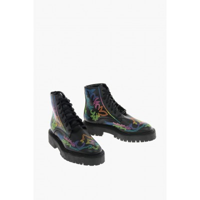 Dawni Young Women's JESSIE WESTERN ecoleather RAINBOW Combat boots Collection MDMG750