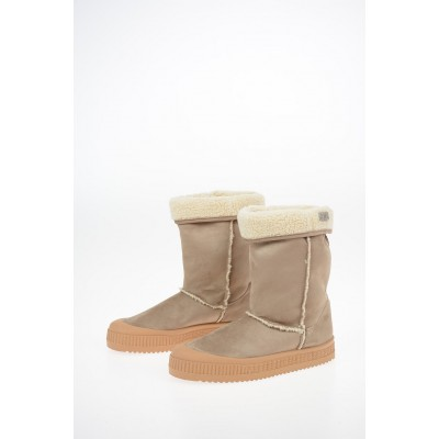 GCDS Womens Suede Leather Ankle Boots XLLC691