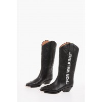 Off-White Women's 6 cm leather COWBOY Western boots On Line JNPS201