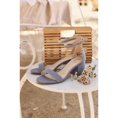 Lulus Harper Blue Suede Ankle Strap Heels Blue for Women Going Out The Top Selling B6ZCI2886