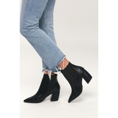 Cecy Black Pointed Toe Ankle Booties Black Women Fit 84FDN9199