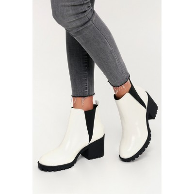 Dirty Laundry Lisbon White Patent High Heel Ankle Booties White Women For Sale 4ST666696