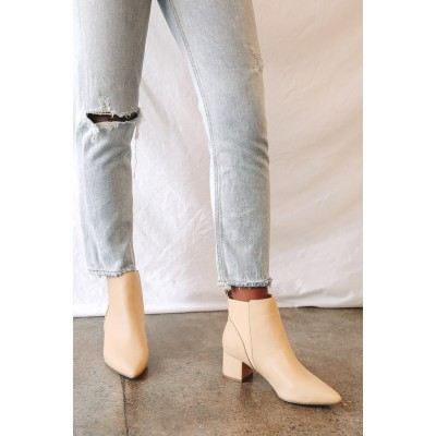 Lulus Chase Light Nude Pointed Toe Ankle Booties Light Nude Women Clearance VC5H32886