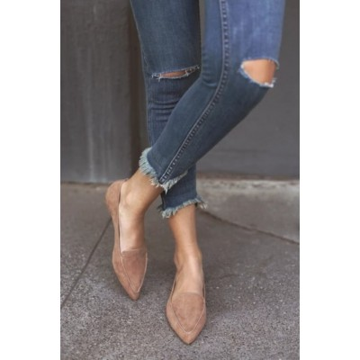 Lulus Emmy Camel Suede Pointed Loafers Camel Womens R17917597