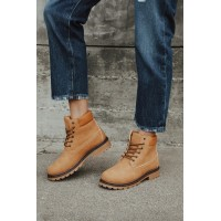 Lulus Tiana Mustard Lace-Up Ankle Boots Mustard Womens Business Casual Number 1 Selling QTZYW4091