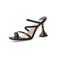 Women's Strappy Sandal Slippers Square Toe Slides Shoes on sale online #32760895928