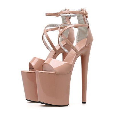 8 Inch High Heel Sexy Sandals Patent Pleaser Heels Stripper Shoes Stripper Shoes New Arrival #12400901990