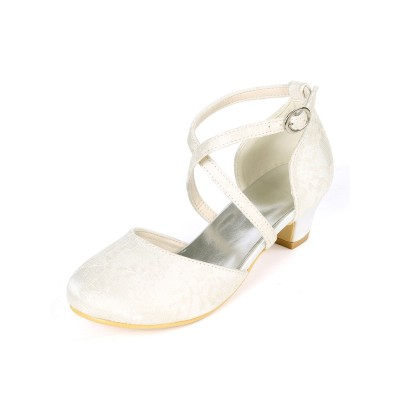 Flower Girl Shoes Ivory Lace Party Shoes For Kids On Sale #08380903028