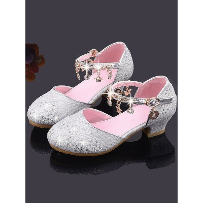 Flower Girl Shoes Pink Sequined Cloth Chains Party Kids Shoes For Wedding Trending #08380870782