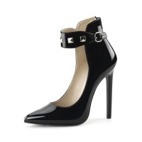 Women Sexy High Heels Black Pointed Toe Ankle Strap Sequins Sexy Shoes Stripper Shoes Number 1 Selling #12390904390