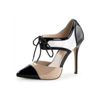 Women Sexy High Heels Split Color Pointed Toe Sequins Sexy Shoes Stripper Shoes New Look #12390904410