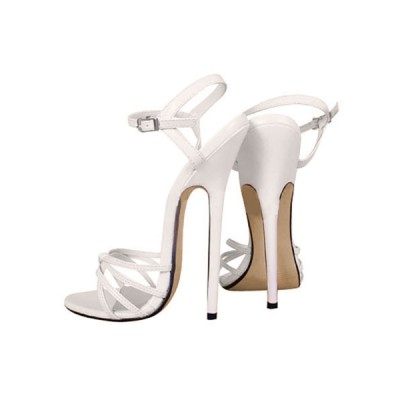 6 3/10'' High Heel Patent Ankle Straps Sandals hot topic #06180020279
