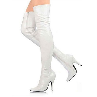 3 3/5'' High Heel White Patent Thigh High Sexy Boots lifestyle #04270011287