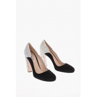 Miu Miu Women's Suede Pumps with Glittery Details online shopping OBOF330