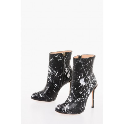 Eugene Riconneaus Women's 11.5 cm printed leather Booties MOCP848