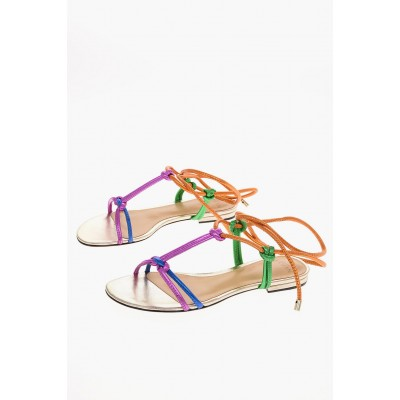Alexandre Birman Women leather Lace Up REBECCA T-strap sandals Fitted NRYY582
