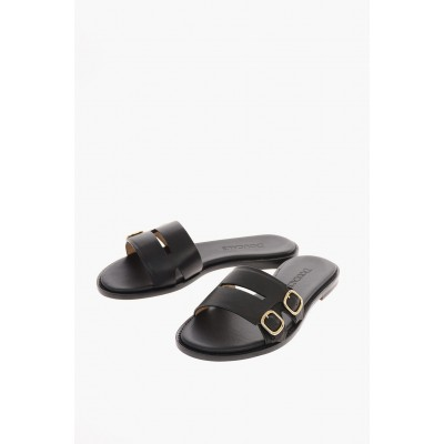 Doucal's Young Women's leather MILD Slides Collection QVRO507