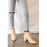 Lulus Chase Light Nude Pointed Toe Ankle Booties Light Nude for Women Formal New Style KEK984337