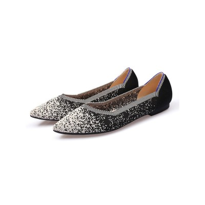 Ballet Flats White Textile Pointed Toe Slip-On Ballerina Flats At Target #113180950790