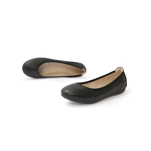 Womens Ballet Flats Black Thermoplastic Elastomer Pointed Toe Slip-On Daily Casual Ballerina Flats most comfortable #113180936008