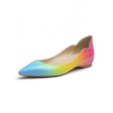 Women's Pointed Toe Ballet Flat in Gradient Color lifestyle #06260921672