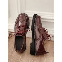 Women's Lace Up Wingtip Brogues Round Toe Oxfords wholesale #16100895892