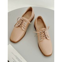 Women's Oxfords Square Toe Lace Up Flat Casual Shoes New Look #16100895890